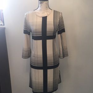 Gently used Julie Brown black/cream Fitted Dress